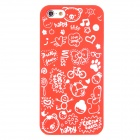 Cartoon Patterns Protective Hard Back Case for Iphone 5 - Red