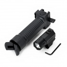 180lm 2-Mode linterna blanca w / Cree Q3, Retractable Grip Bipod Mano de 20mm Gun - Negro (1 x CR2)