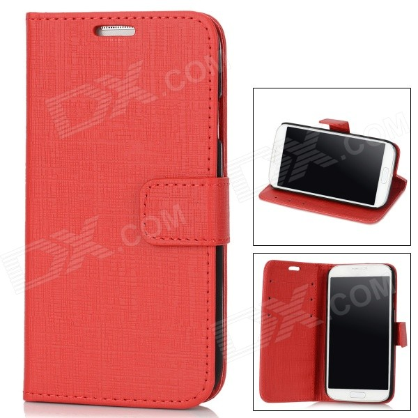 все цены на Stylish Flip-open Protective PU Leather Case for Samsung Galaxy S4 i9500 - Deep Red онлайн