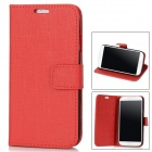 Stylish Flip-open Protective PU Leather Case for Samsung Galaxy S4 i9500 - Deep Red