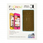 Protective PVC Full-Body Skin Protector Sticker for Iphone 5 - Gold Black