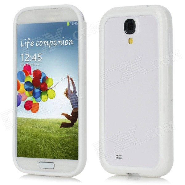 Protective Plastic Frame Case for Samsung Galaxy S4 / i9500 - White protective plastic case for samsung galaxy s4 i9500 white