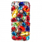 Protective Rhinestone Plastic Back Case for Iphone 5 - Multicolor