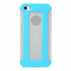 Detachable 2-in-1 Protective TPU Back Case for iPhone 5 - Blue + Translucent White