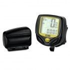 SUNDING SD-548C1 Wireless Water Resistant Bike Speedometer - Black