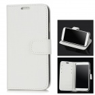 Stylish Flip-open Protective PU Leather Case for Samsung Galaxy S4 i9500 - Black + White