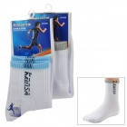 Men's Air Permeable Sweat Absorbing Sports Socks - White + Blue + Gray (2 Pairs)