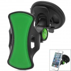 Multi-Functional Car Mount Stand Holder for Cell Phone / GPS - Black + Green