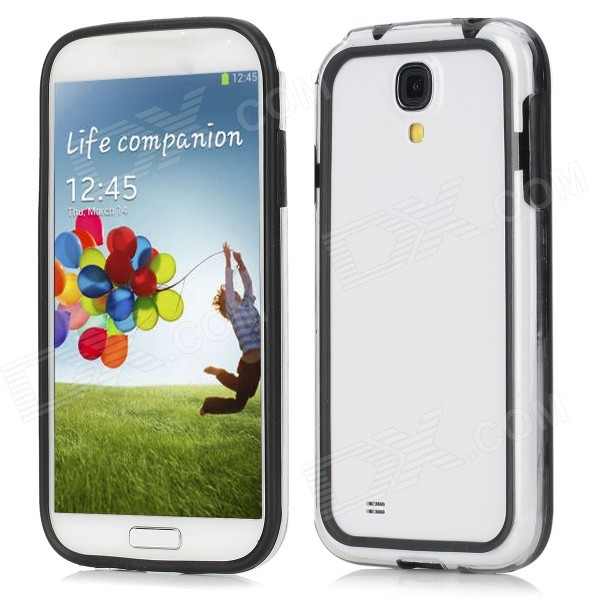 Protective Plastic Frame Case for Samsung Galaxy S4 / i9500 - Black + Transparent