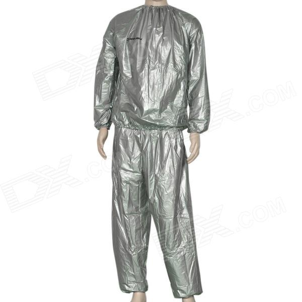 Winmax WMF09938 Light Thin PVC Sauna Suit - Silver (Size L)