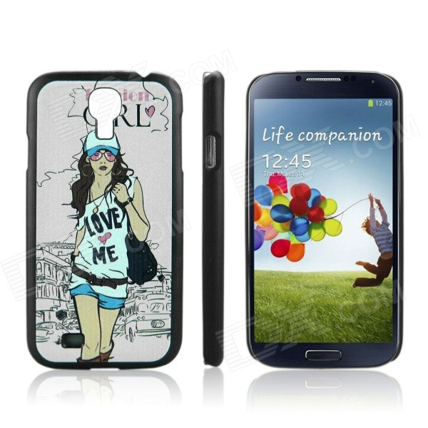 ENKAY Fashion Girl Pattern Protective PC Back Case for Samsung Galaxy S4 / i9500 - Multicolored