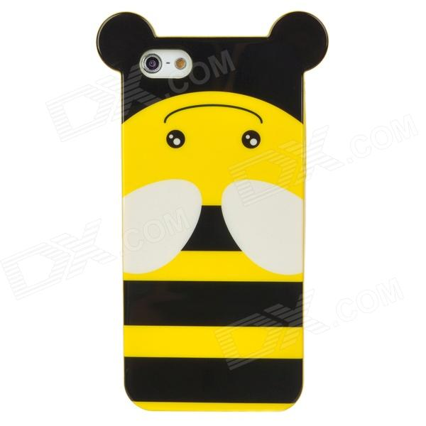Cute Cartoon Bee Style Protective TPU Back Case for Iphone 5 - Yellow + Black + White фгос мир в картинках цветы