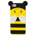 Cute Cartoon Bee Style Protective TPU Back Case for Iphone 5 - Yellow + Black + White