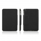ENKAY ENK-3334 Microgroove Protective PU Leather Case for Ipad MINI - Black