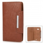 KALAIDENG Protective PU Leather Back Case for Quidway Ascend Mate 6.1 - Brown