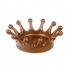 Creative Milk Crown Style Ashtray - Brown