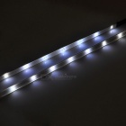Bicycle Decorative 14-LED White Light 3-Mode Lamp Strips - White + Black (2 x AAA / Pair)