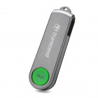 TRANSCEND TS16GJF220 Fingerprint Identification USB 2.0 Flash Drive - Deep Grey + Green (16GB)
