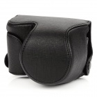 New Stylish Protective PU Leather Case w/ Carrying Strap for Sony NEX-3N - Black