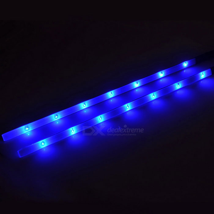 4 X Car White 12 Led Decorative Interior Floor Undercar: Bicycle Decorative 14-LED Blue Light 3-Mode Lamp Strips