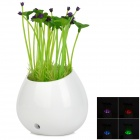 LYL YD-201 LED Light-Operated Energy Saving Night Light / Bedside Lamp - White + Green