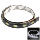 Waterproof 7.2W 540lm 6500K 18-SMD 5730 LED White Car Decoration Light Strip (55cm)
