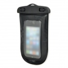 Stylish Waterproof Bag w/ Neck Strap for Iphone 5 / 4 / 4S / Samsung i9300 / i9082 - Black