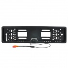 Vehicle 2.4G Wireless CMOS PAL License Frame Rearview Camera for European Car - Black