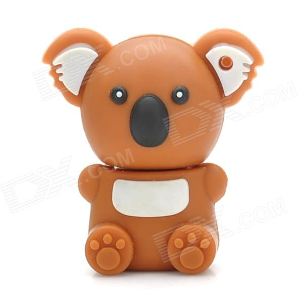 Cartoon Koala Style USB 2.0 Flash Drive - Brown + White (4 GB) cartoon koala style usb 2 0 flash drive brown white 4 gb