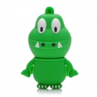 Cartoon Crocodile Stil USB 2.0 Flash Drive - Grün + Weiß (8 GB)