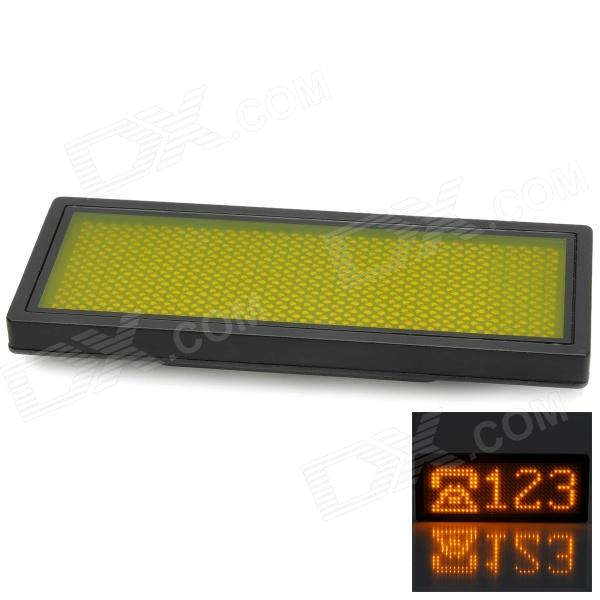 B1236AY 432-LED Yellow Light Advertising Display Board - Black + Yellow