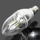 E14 4W 150lm 6500K 32-3014 SMD LED Candle Lamp (85~265V)