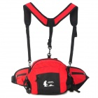 HIGHSEE HS-1008 Multifunction Outdoor Sports Water-resistant Nylon Waist Bag - Red + Black