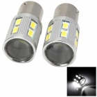 1156 10W 480lm 6000K 13-LED White Car Brake / Reversing Lamps (2 PCS)
