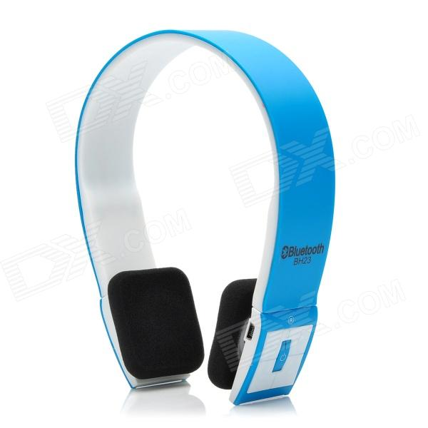 BH23 Bluetooth V3.0+ERD Handsfree Stereo Headset w/ Microphone - Blue + White