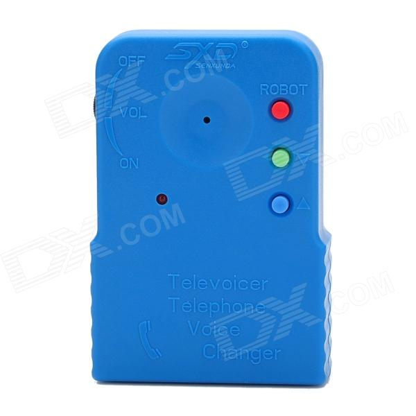 206a Handheld Telephone Voice Changer - Blue promoting social change in the arab gulf