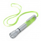 Creative 2-in-1 Ball Pen Design 2-Mode White Flashlight - Silver + Fluorescent Green (3 x AG3)