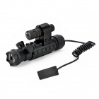 Fishbone 20mW Green + Red Laser Gun Sight Scope w/ Rat Tail Switch for 20mm Gun Rail - Black