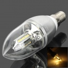 E14 4W 150lm 3200K 32-3014 SMD LED Warm White Light Kerze Lampe (85 ~ 265V)