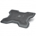 Dual USB 1-Fan Laptop Cooling Pad - Black