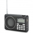 "AMOI H-103 1.5"" LCD Rechargeable FM Radio MP3 Player w/ TF Card Slot / USB 2.0 Port - Black"