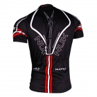 NUCKILY AJ207 Men's Short Sleeve Cycling Coat - Black + White (Size M)