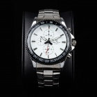 Super Speed V6 A005-WS Stylish Men's Quartz Wrist Watch - Silver + White + Black (1 x LR626)