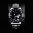 Super Speed V6 A005-BS Stylish Men's Quartz Wrist Watch - Silver + Black (1 x LR626)
