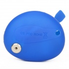 E-088 Compact USB to Mini USB / Micro USB / Apple 30-Pin Data / Charging Cable - Blue (6cm)