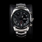 Super Speed V6 A006-BS Stylish Men's Quartz Wrist Watch - Sliver + Black (1 x LR626)
