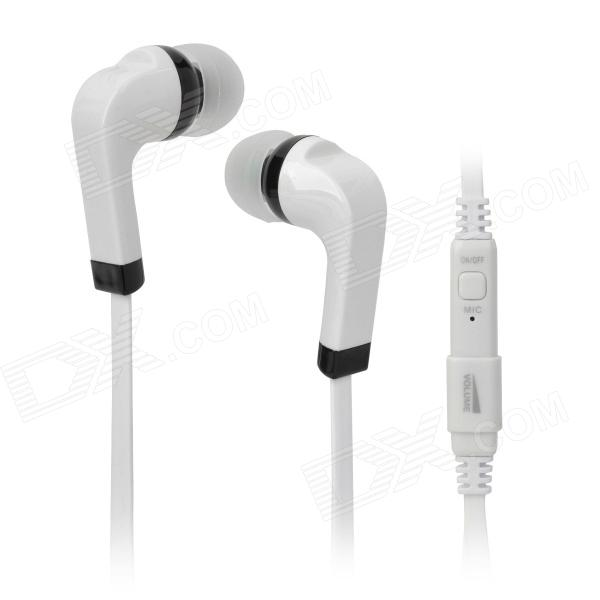 N-68 Stilvolle In-Ear-Stereo-Ohrhörer w / Mikrofon für iPhone / iPad / Handy - White + Black