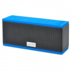 D501 Bluetooth V2.0 + EDR Handsfree 5W Stereo Speaker w/ Microphone / TF Card Slot - Black + Blue