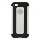 Detachable 2-in-1 Protective TPU Back Case for Iphone 5 - Black + Translucent White