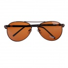209 Classic UV400 Protection Polarized Sunglasses - Dark Brown + Black